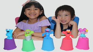 Kinetic Sand Learning Colors with Sesame Street Character for Kids