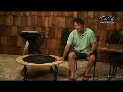Cast Iron Slate Finish Fire Pit