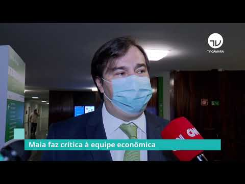 Maia critica equipe econômica do governo - 03/12/20