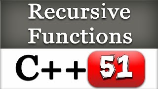 Recursive Function and Recursion in C++ | CPP Programming Video Tutorial