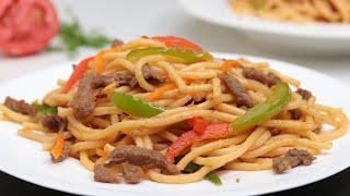 বিফ চাউমিন ( দেশি স্টাইলে বিফ চাউমিন ) ॥ Beef Chow Mein Recipe ॥ Bangladeshi Chow Mein Recipe