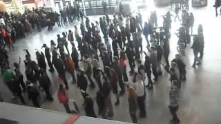 58 Флешмоб на Курском вокзале 01 04 12 AVI