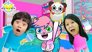 WILL YOU BE RYAN'S MOM IN ROBLOX !? Ryan and Mommy are ADOPTED ! Let's Play ROBLOX ADOPT ME