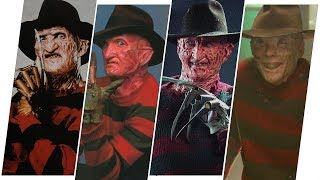 Freddy Krueger Evolution in Movies, TV and Cartoons (A Nightmare on Elm Street)