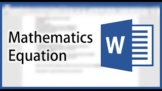 Microsoft Word Mathematics Equation Shortcuts (For Math Equation in Chemistry Lab Report)