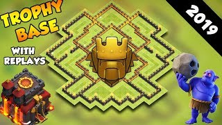 INSANE Town Hall 10 TROPHY Base + REPLAYS 2019! CoC BEST Th10 Trophy Base Layout - Clash of Clans
