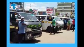 Nanyuki matatu operators react to President  Kenyatta's cessation of