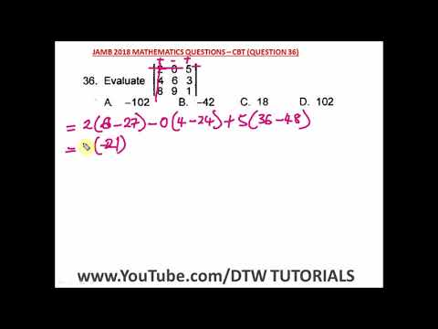 How to find the Determinant of a Matrix (Solved Example)