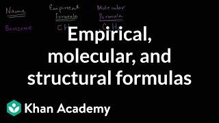 Empirical Molecular And Structural Formulas