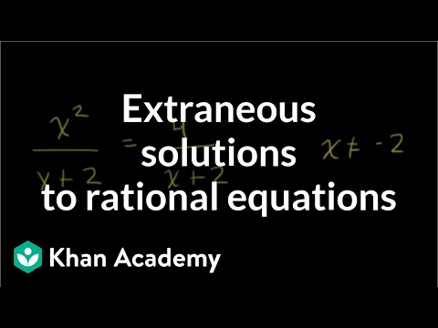 Equation With Two Rational Expressions (old Example 3) (video) | Khan  Academy