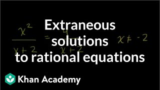 Extraneous Solutions to Rational Equations
