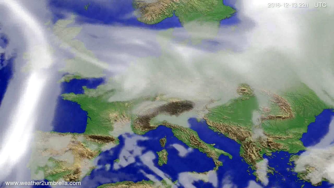 Cloud forecast Europe 2016-12-11