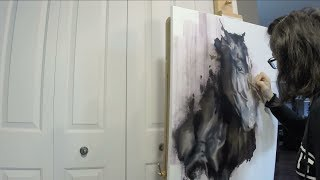 Speed Painting Horse Art Oil Painting Contemporary Equine XI Fanny Duhaime