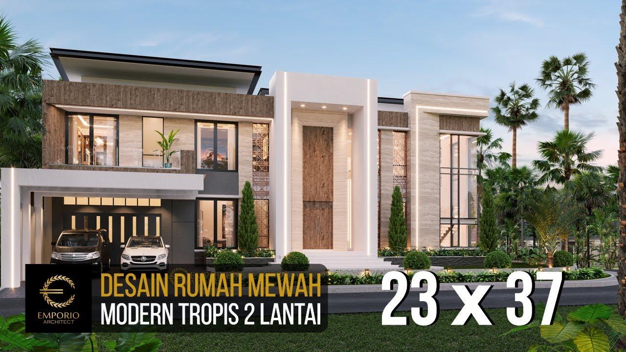 Video 3D Desain Rumah Modern 2 Lantai Bapak Melky Tjiang di Palu, Sulawesi Tengah