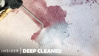 How A Professional Steam Cleaner Removes Wine Stains From Carpets | Deep Cleaned