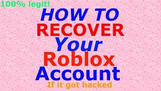 how to get your hacked roblox account back no email - 免费