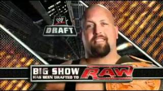 Big Show Drafted to Raw - WWE Draft 2011 Raw 4/25/11