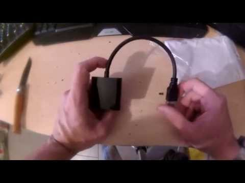 unboxing  - USB a VGA Convertitore Adattatore MultiDisplay Esterna Video Grafico Scheda RG68