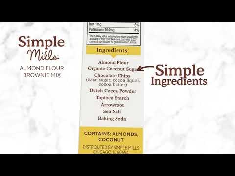 Simple Mills, خليط دقيق اللوز، خالٍ من الغلوتين بشكل طبيعي، براوني، 12.9 أوقية (368 غرام)