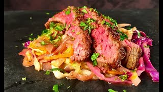 How to Make Michael Symon's Flank Steak with Crunch Cabbage   The Chew