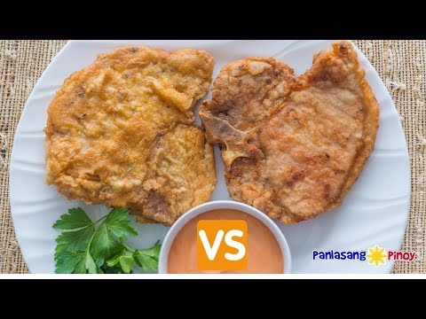Fried Pork Chop – Ano ang Mas Gusto Mo Lightly Breaded or Double Coated?
