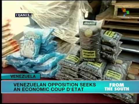 Venezuela: Gov't says opposition seeks economic coup d'etat