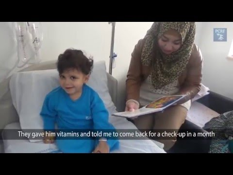 Mu'men Murankh: the First Child from Gaza treated in the Huda Al Masri Pediatric Cancer Dept.