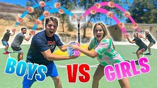 BOYS vs GIRLS Basketball OLYMPICS Challenge!