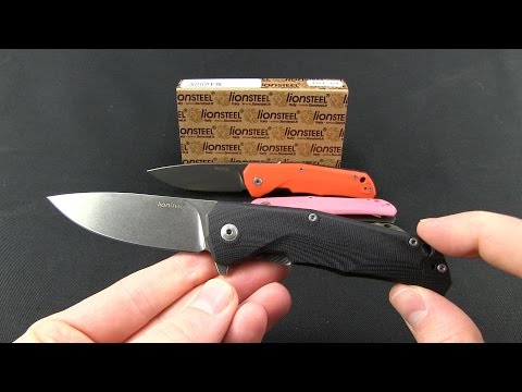 "LionSteel TRE Flipper Frame Lock Knife Orange G-10 (2.9"" Stonewash)"