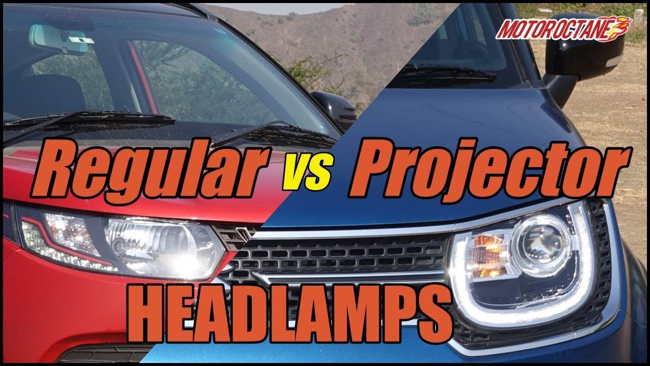 Motoroctane Youtube Video - Projector vs regular headlights in Hindi | MotorOctane