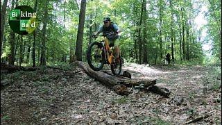Shredding the Fairland Fun trails.