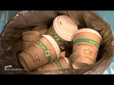 Kampf gegen Einwegbecher beim Coffee-to-Go | Berliner Abendschau rbb 29.01.2016