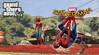 GTA 5 SPIDERMAN Far From Home MOD Ragdolls Fails Funny Moment - GTA 5 Live