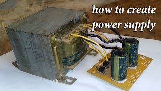 How To Make Power Supply For Amplifier -- Single And Dual Power Supply Full-HD 1080p