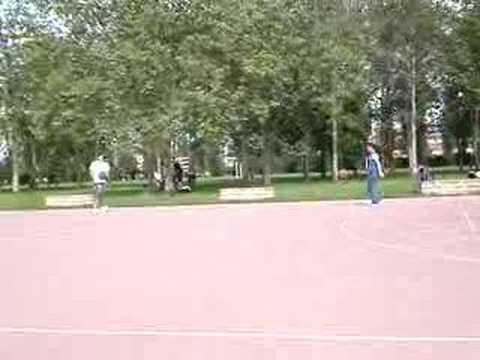 Basketball in the park next to San Siro.