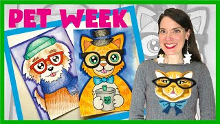 How To Draw Hipster Pets | Pet Week
