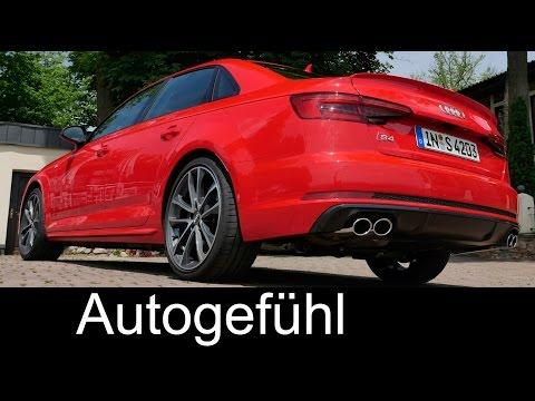 Audi S4 V6 354hp sound & performance 0-100 km/h 0-60 mph launch control new neu