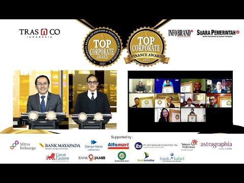 Virtual Award Ceremony Top Corporate Award & Top Corporate Finance Award 2021