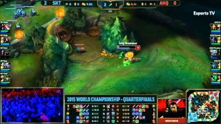 AHQ Westdoor SOLO KILL on Faker 2 Times In 1 Game (S5 WC Quarter-final G#3)