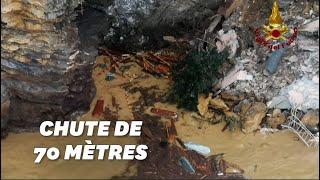 We Włoszech osunięcie się ziemi wyrzuca do morza dziesiątki trumien.