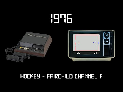 Gaming Through The Ages Phase 1 - 1976 - Hockey - Fairchild Channel F