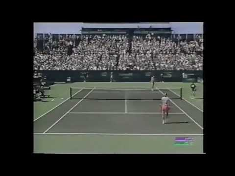 Chris Evert vs Mary Joe Fernandez 1989 Key Biscayne 2/3