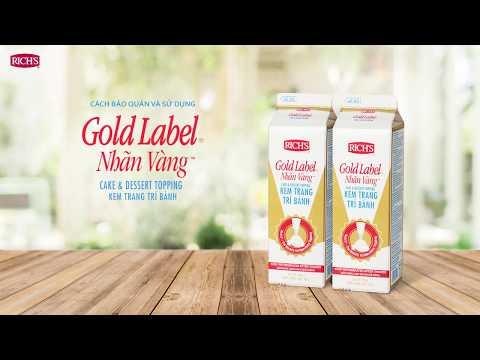Hướng dẫn sử dụng và bảo quản kem Rich's Gold Label