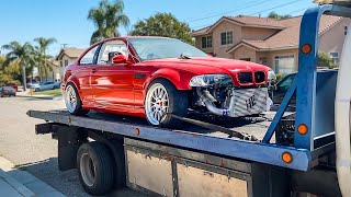 TAKING DELIVERY OF MY TURBO E46 M3 DRIFT CAR!!!