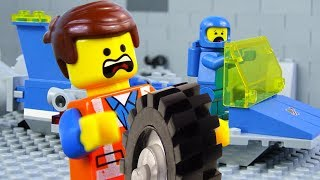 LEGO Movie 2 STOP MOTION LEGO: Emmet & Benny's Workshop Fail | LEGO City Vehicles | By Billy Bricks