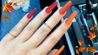 Fall MATTE Acrylic Nails