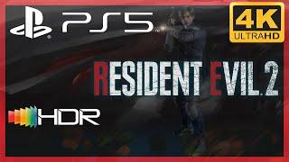 [4K/HDR] Resident Evil 2 (2019 Remake) / Playstation 5 Gameplay