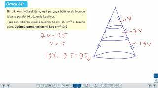 Eğitim Vadisi TYT Geometri 18.Föy Katı Cisimler 2 (Koni, Küre) Konu Anlatım Videoları