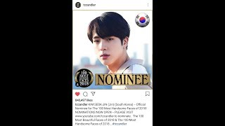 BTS Rank - 100 Most Handsome Faces 2018 Voting