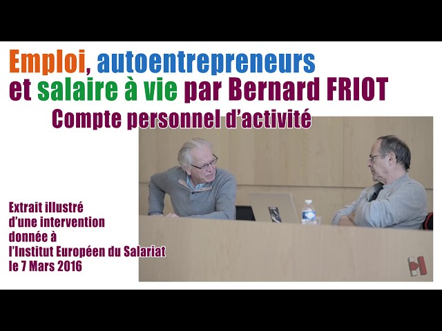 Emploi, auto-entrepreneurs et salaire à vie
